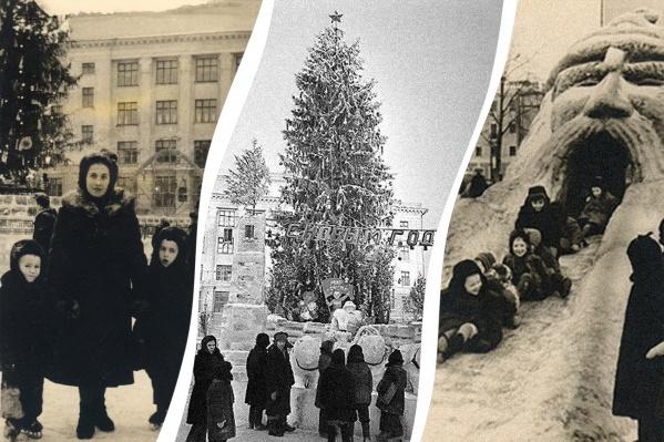 Празднование прихода Нового года на Советской площади традиционно было веселым