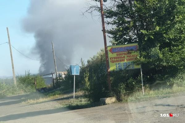 Пожар на свалке начался около 22 часов 12 августа