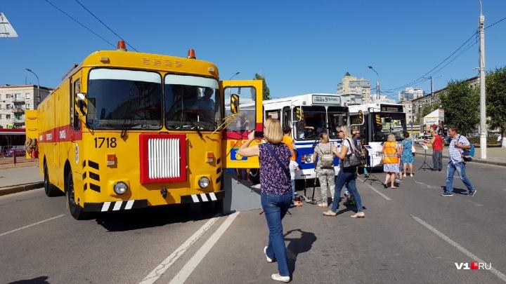 В Волгограде завершилась выставка электротранспорта — фоторепортаж