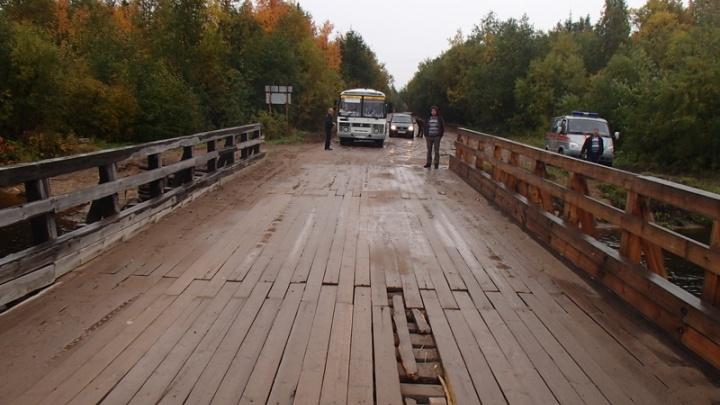В посёлке 29-го лесозавода в ночь с 12 на 13 июля закроют мост через реку Ижму