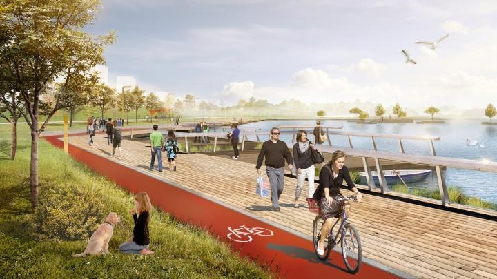 В Академическом предлагают построить парк по примеру Нью-Йорка: публикуем эскизы