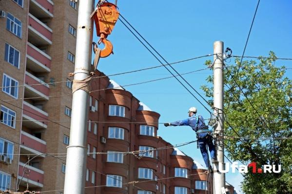 Линия электропередач нуждается в срочном ремонте