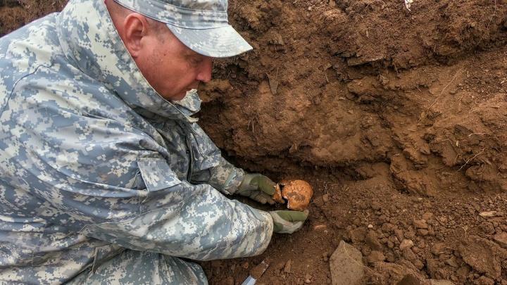 Кончились патроны: в Ростовской области нашли останки бойцов пулеметного расчета