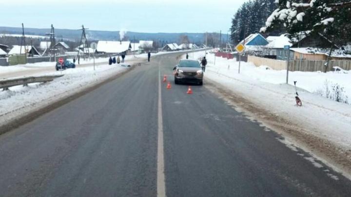 В Пермском крае автомобиль сбил насмерть 87-летнюю пенсионерку