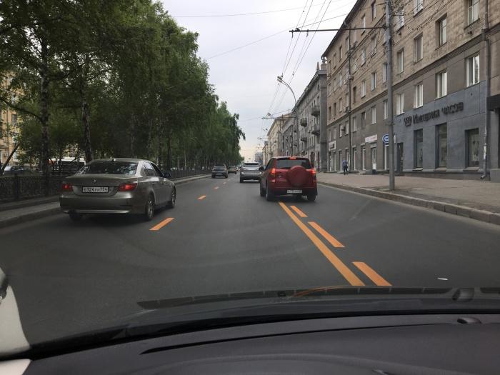 Новая разметка на Красном проспекте