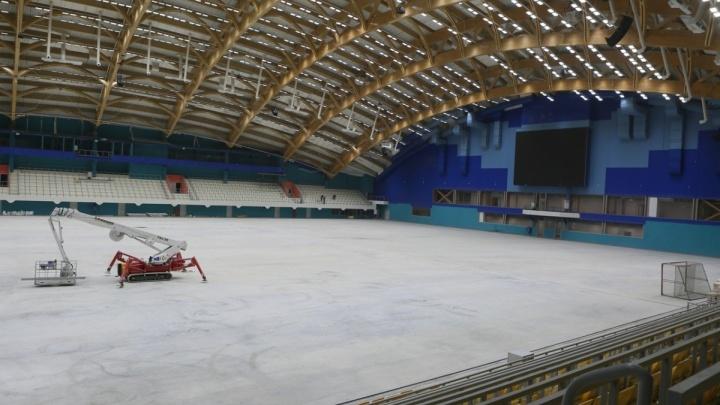 Первый лед нового «Енисея»