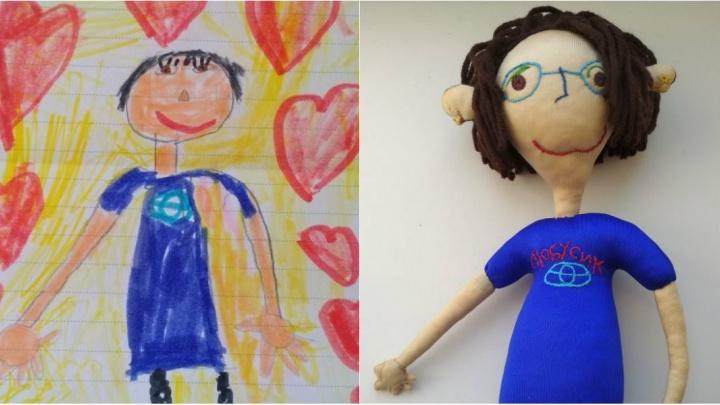 Новосибирцы начали шить игрушки по детским рисункам