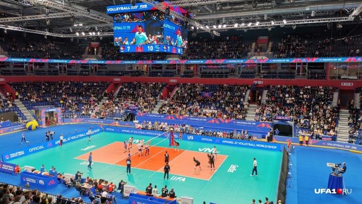 Сборная России по волейболуразнесла Португалию в стенах «Уфа-Арены»