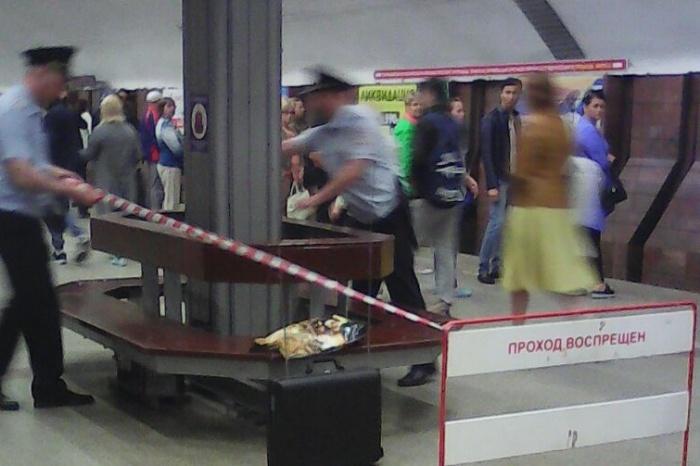 Оцепление на станции метро «Площадь Маркса»