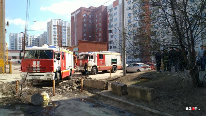 В Самаре горел офисный центр на Гастелло