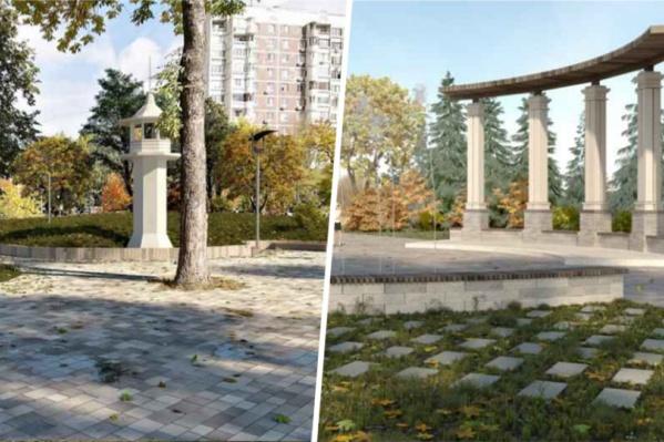 Ротонду расположат рядом с фонтанами