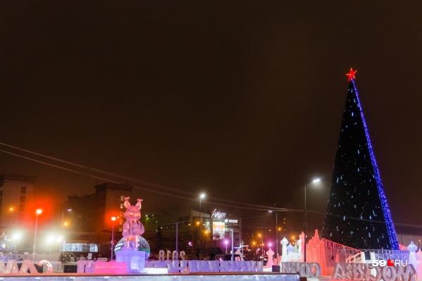 Так выглядел ледовый городок на эспланаде в прошлом году