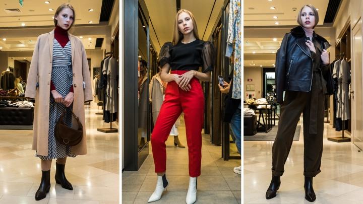Носим платья с брюками: 14 модных образов осени, которые вас удивят