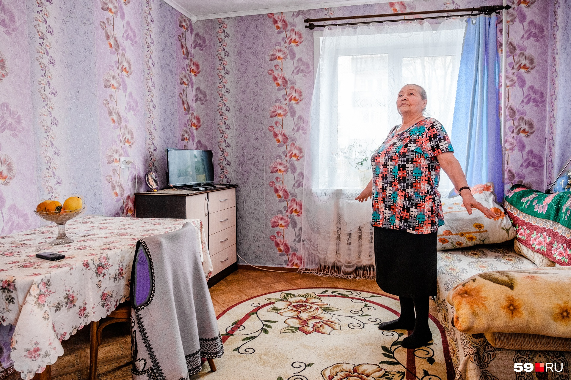 Галине Григорьевне тоже нравится в ее новом жилье