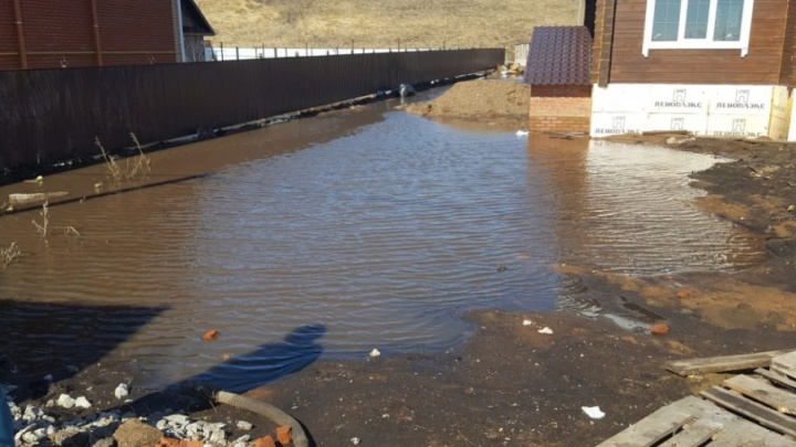 В Стерлитамакском районе подтопило 10 дворов