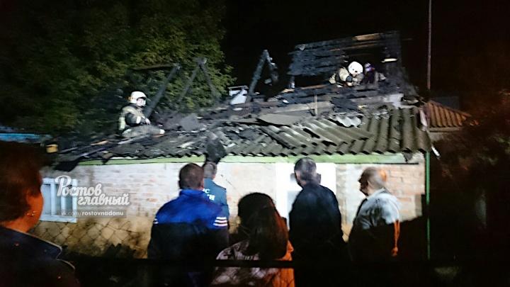 В Ростове ночью дотла сгорел частный дом
