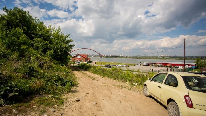 Спасатели закрыли проход к берегу Оби у Бугринского моста