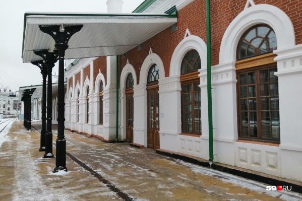 Спустя много лет открыли зал ожидания в здании вокзала Пермь I