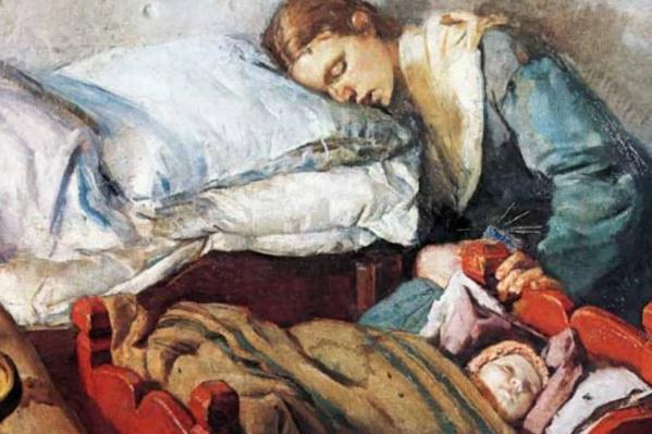 Картину «Мать и дитя» норвежец Кристиан Крог написал в 1883 году
