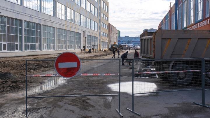 Перед приездом Медведева у «Мориона» экстренно начали ремонт подъезда к одному из корпусов