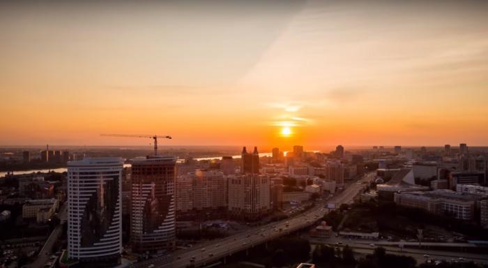 Новосибирский ролик на видео можно увидеть с 0:09 секунды