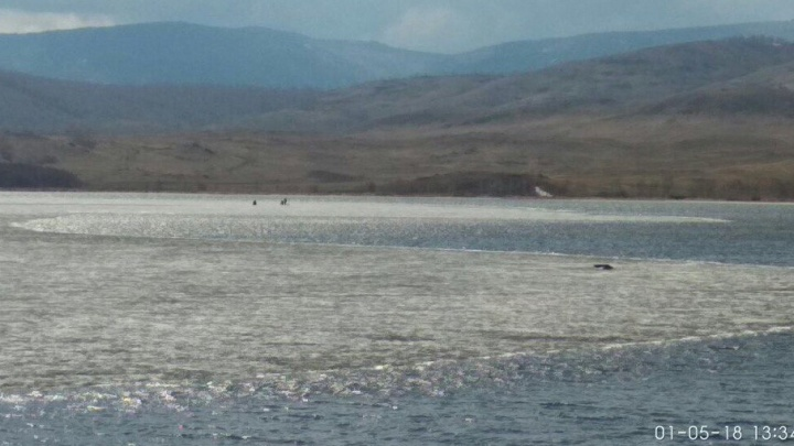 В Башкирии на озере оторвалась льдина с рыбаками