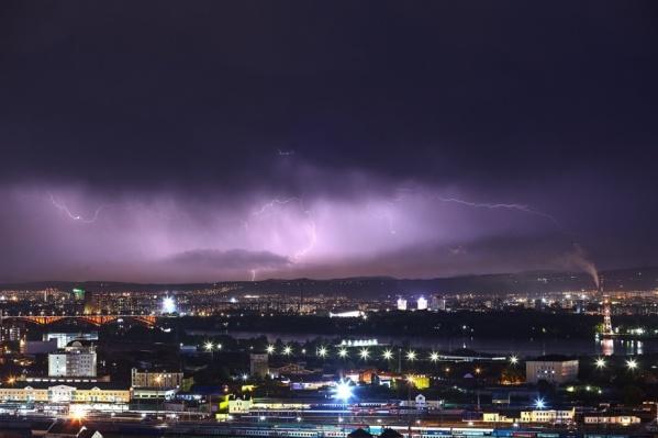 Красноярск в непогоду