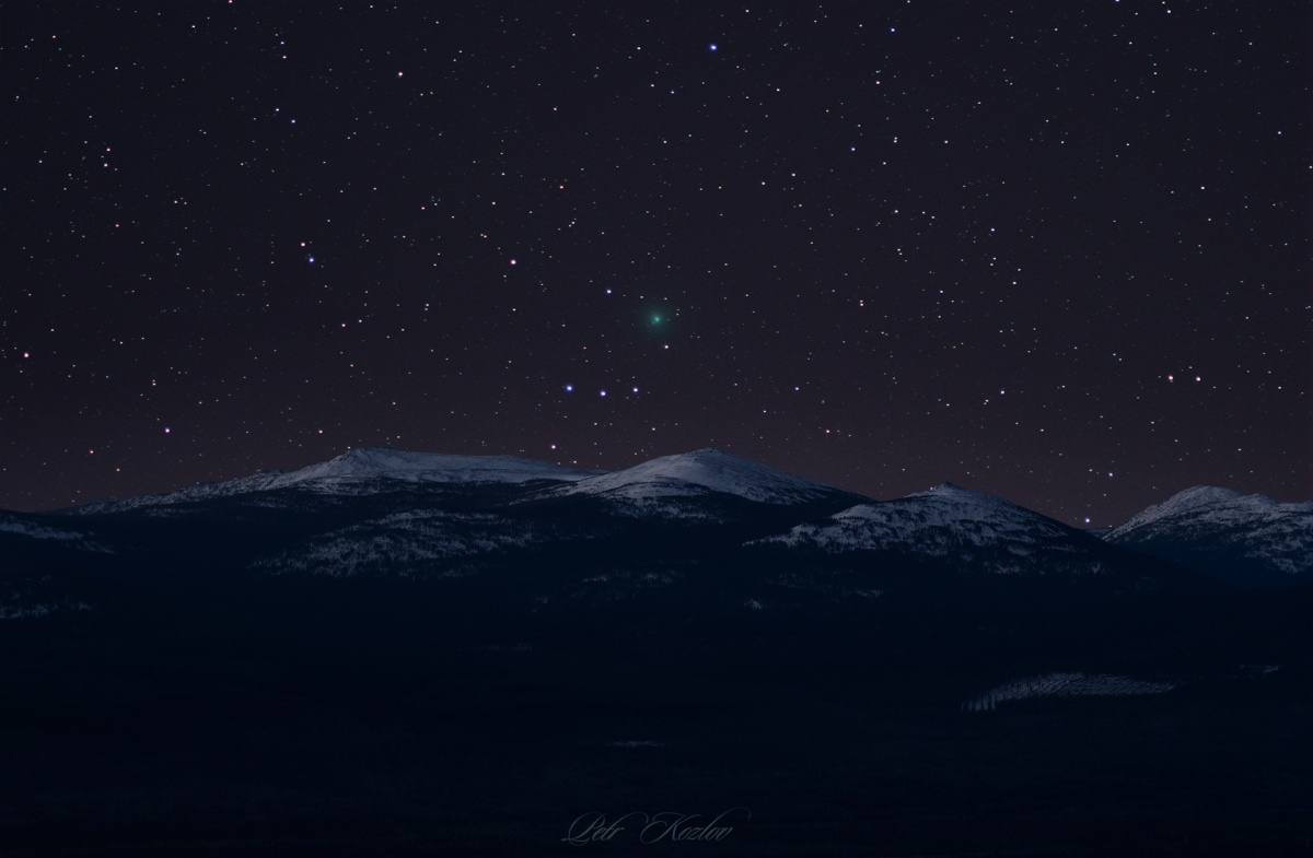 Комета над уральскими горами