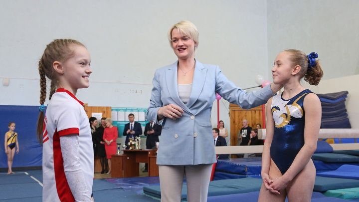 Светлана Хоркина устроила мастер-класс юным уфимским гимнасткам