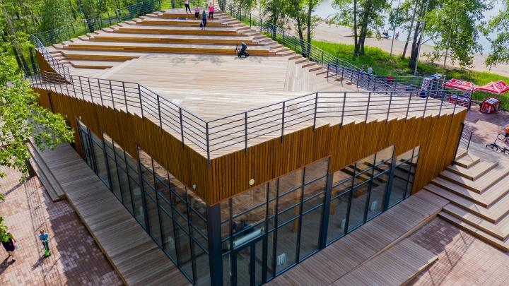 Визит-центр на Татышеве и беседки у Царь-рыбы номинированы на звание лучшего деревянного сооружения