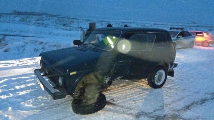 На трассе в Башкирии «Нива» протаранила внедорожник