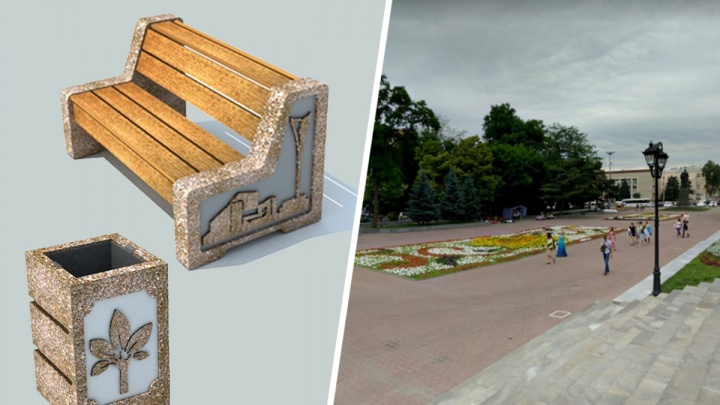 На новые скамейки и урны в парке Фрунзе власти Ростова выделят миллион рублей