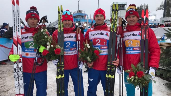 Тюменец Александр Большунов в составе сборной взял серебро на чемпионате мира по лыжным гонкам