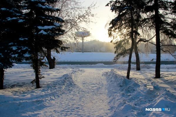 На следующей неделе в Омске будет довольно тёплая и снежная погода