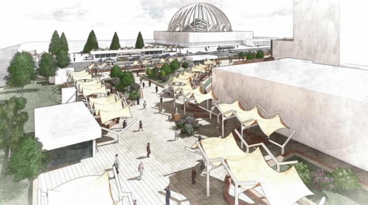Архитекторы придумали, как превратить площадь перед УрГЭУ в «пешеходный оазис»: смотрим проект