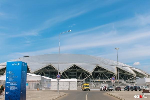 Территорию стадиона облюбовали любители активного отдыха