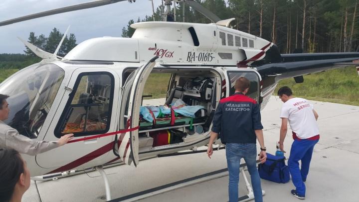 В Екатеринбург из Серова на вертолёте отправили полуторамесячного малыша