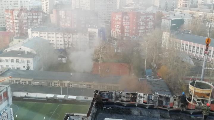 На стадионе «Динамо» в Перми произошел пожар