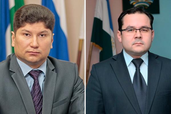 Слева — экс-глава города Салавата Фарит Гильманов, справа — и. о. главы города Салавата Динар Халилов
