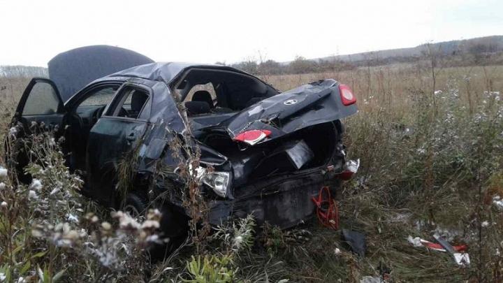 Женщина-водитель не справилась с управлением и погибла на зауральской дороге