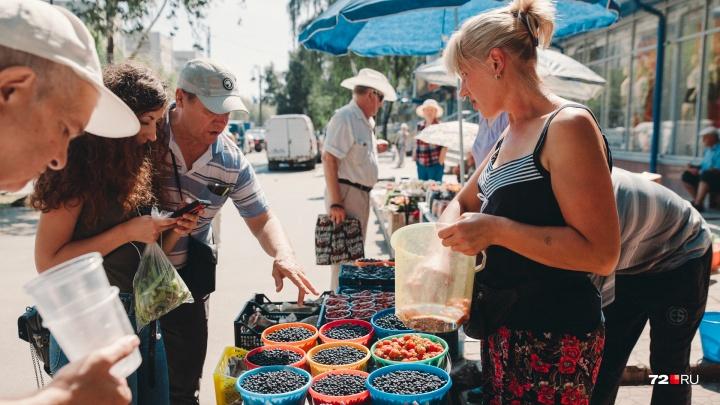 Почем лесная малина, земляника, молодая картошка и первые лисички? Обзор уличных рынков Тюмени