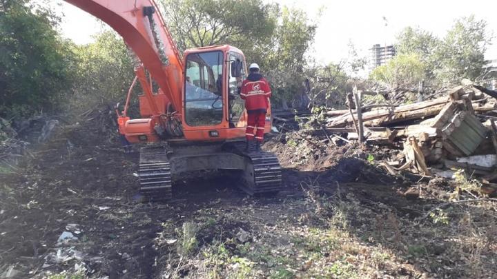 В конфликт со строительством развязки в историческом центре Челябинска вмешалась полиция