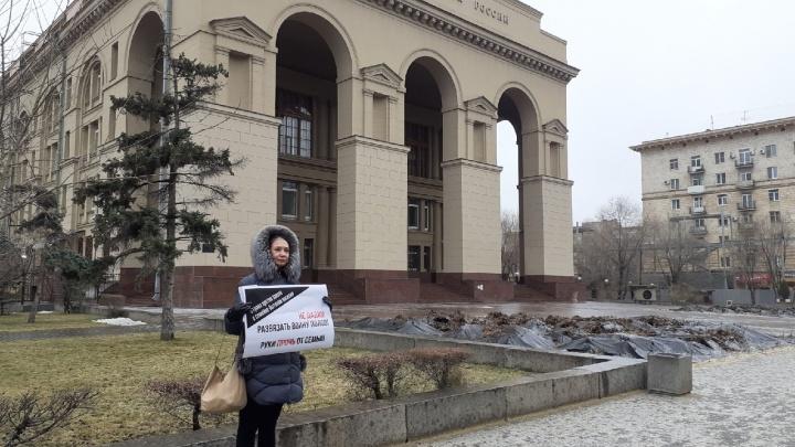 Волгоградские активисты вышли на пикет против закона о домашнем насилии