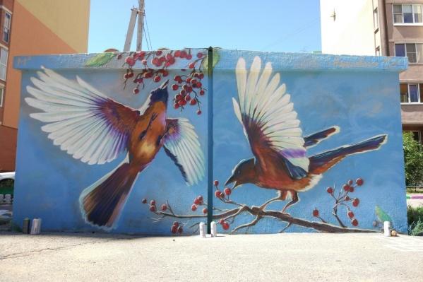 На каждую птичку граффитист потратил около 2–3 часов