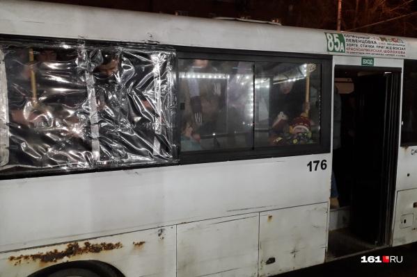 Состояние маршрутки 85А возмутило пассажиров