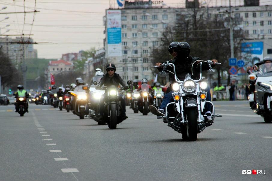 Пермские байкеры считают нецелесообразным повышение транспортногоналога из-за сезонности использования мотоциклов