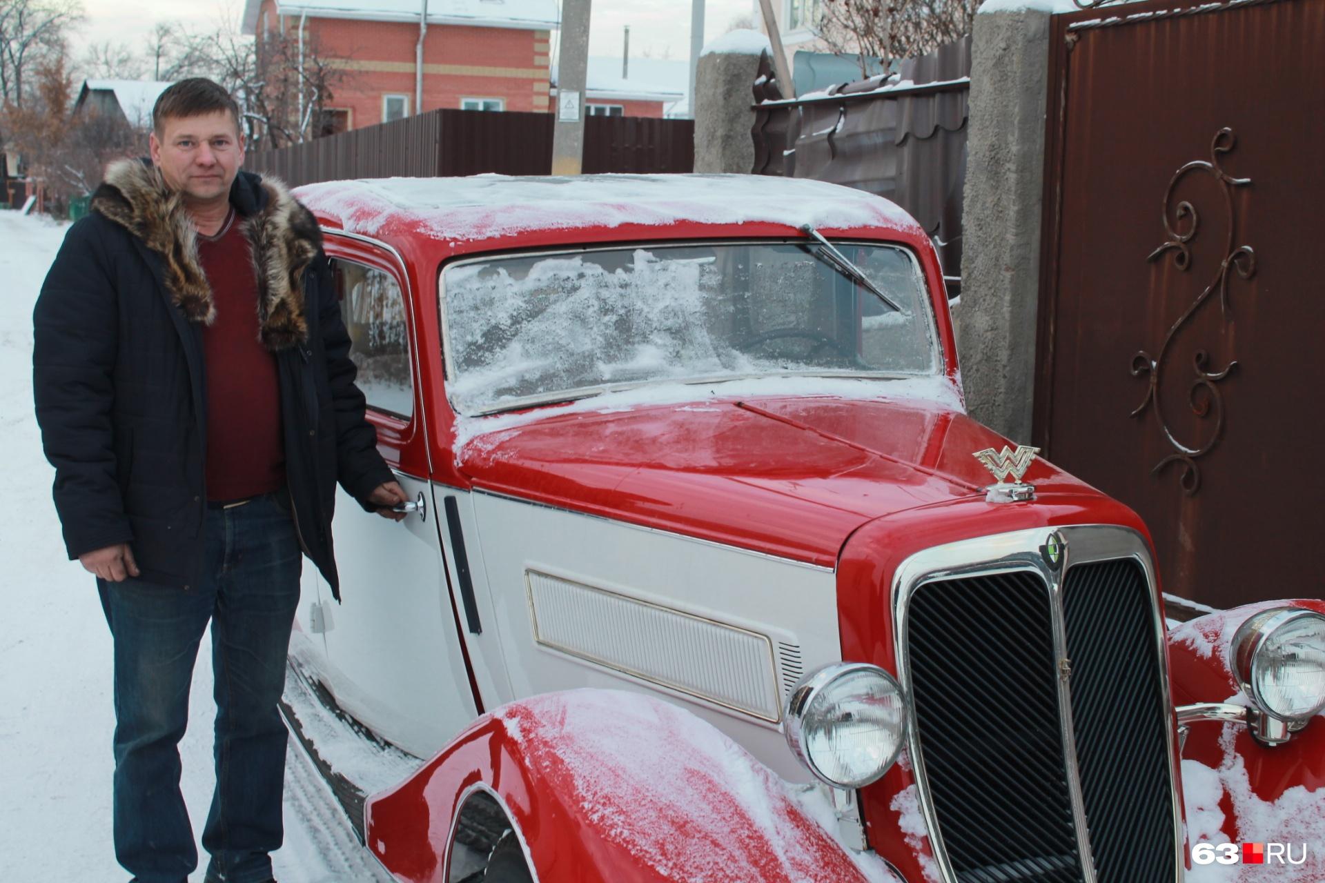 Самарец Юрий Котиков более 20 лет реставрирует раритетные автомобили