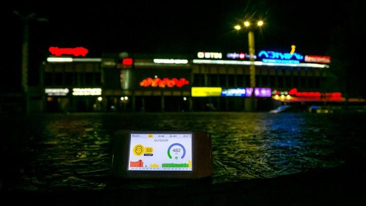 Новый датчик для мониторинга воздуха показал скопление вредных веществ в центре города