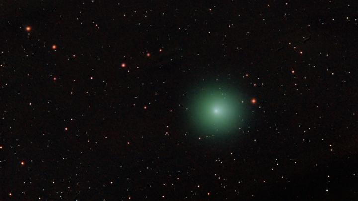 Новосибирцы сфотографировали в небе самую яркую за четыре года комету — большую и зелёную