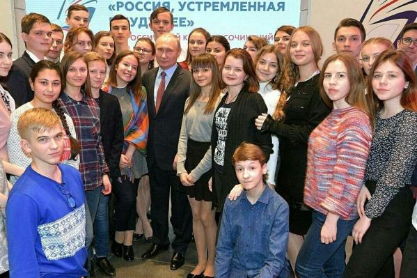 Фото Надежды Бочаровой со встречи с Путиным